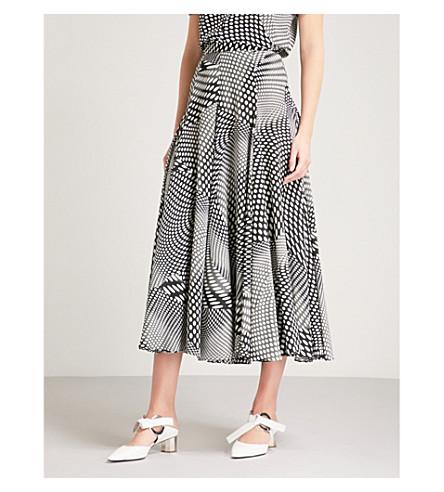 CO Polka dot-print silk midi skirt (Black/white