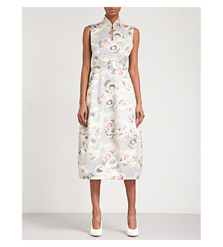 CO Floral-print high-neck cotton dress (Chrysanthemum+print