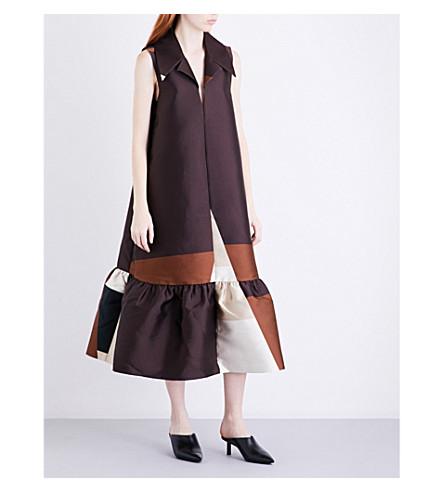 CO Block-colour satin dress (Geometric
