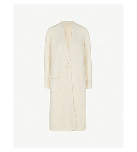 CO Longline wool-blend cardigan (Ivory