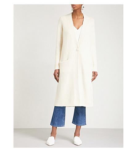 CO Longline wool-blend cardigan (Ivory