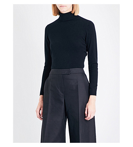 CO Turtleneck cashmere-knitted jumper (Black