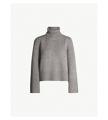 CO Suki wool and cashmere-blend sweater (Grey