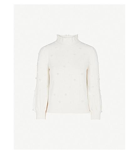 CO Pearl-embellished cashmere-blend jumper (Ivory