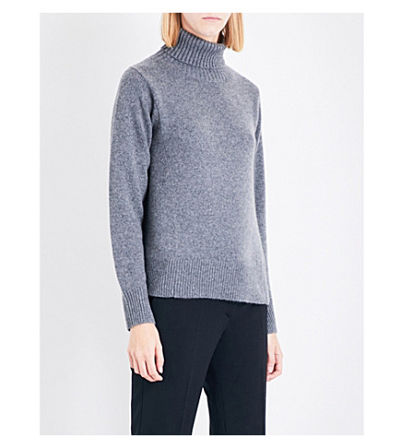 CO Turtleneck cashmere-knitted jumper (Grey