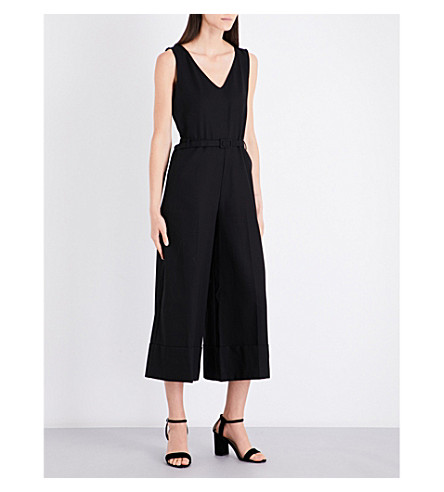 CO Belted cotton jumpsuit (Black