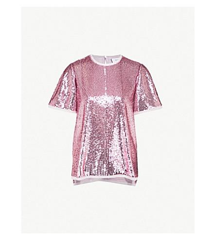 PRABAL GURUNG Sequinned top (Lilac
