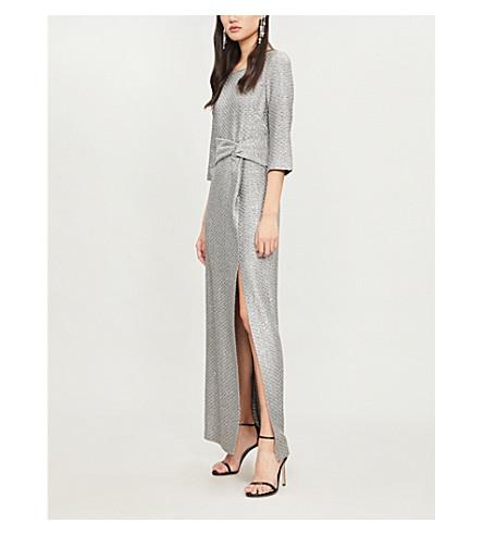 ST JOHN Metallic knitted gown (Silver multi