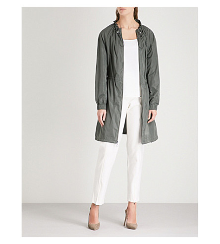ST JOHN Elasticated shell jacket (Dark+mint