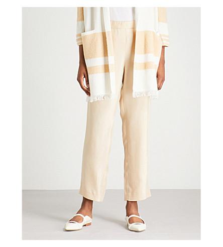 ST JOHN Relaxed-fit gabardine trousers (Butterscotch