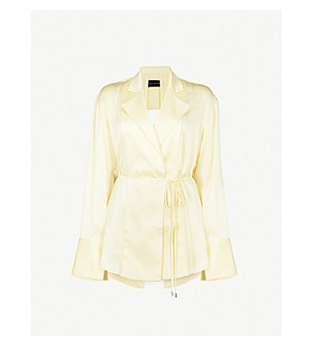 MICHAEL LO SORDO Cutout back silk blouse (Yellow