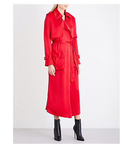 MICHAEL LO SORDO Relaxed trench coat (Red