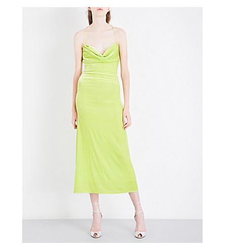 MICHAEL LO SORDO Caroline velvet dress (Limone