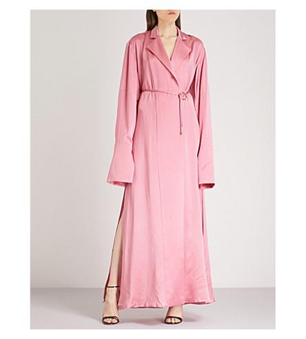 MICHAEL LO SORDO Cocoon-sleeve silk wrap dress (Pink