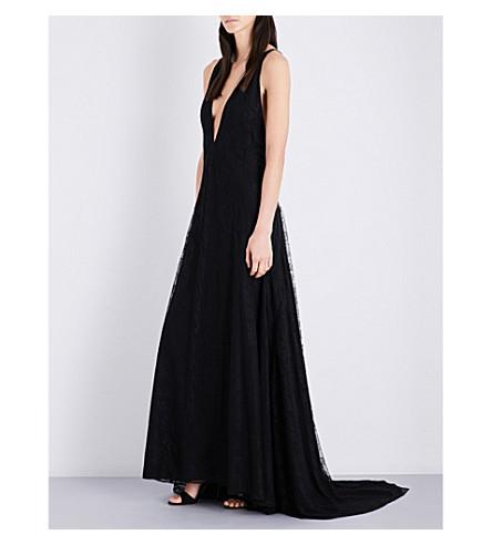 MICHAEL LO SORDO Alexandra silk maxi dress (Black