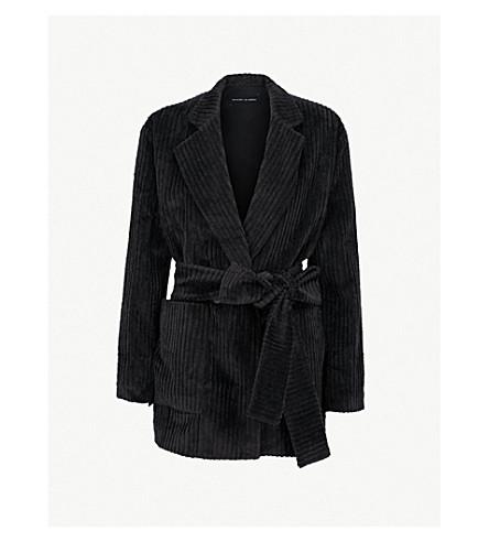 MICHAEL LO SORDO Waist-tie velvet jacket (Black