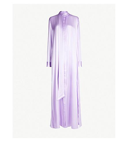 MICHAEL LO SORDO Tie-collar silk-satin dress (Lavender