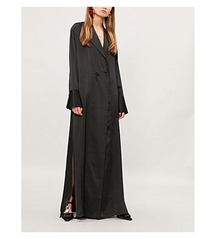 MICHAEL LO SORDO Double-breasted silk shirt dress (Black