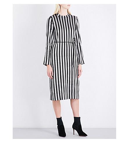 PROTAGONIST Metallic striped woven dress (Metallic+stripe