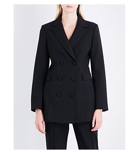 PROTAGONIST Double-breasted stretch-wool jacket (Black