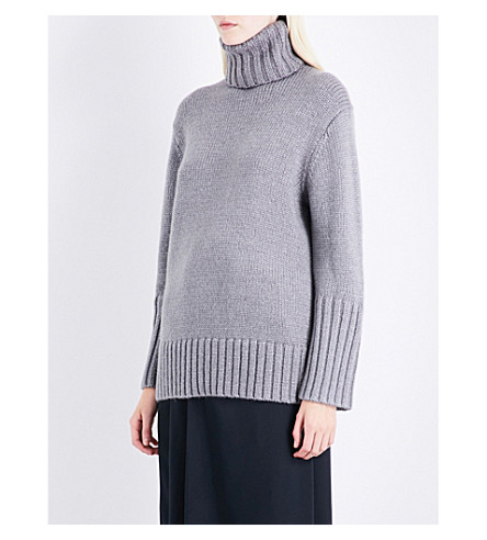 PROTAGONIST Oversized silk, mohair, wool and cashmere-blend turtleneck jumper (Dove+grey