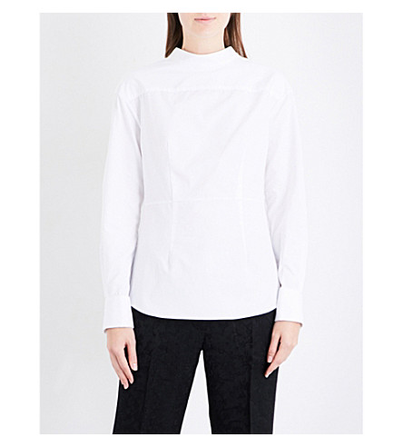 PROTAGONIST Reverse cotton-poplin shirt (White