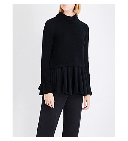 ADEAM Turtleneck cashmere jumper (Black
