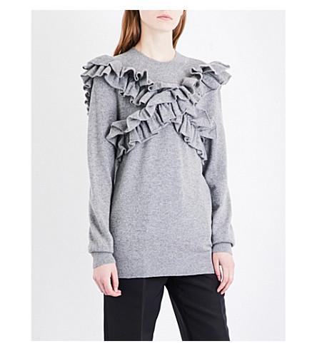 ADEAM Ruffled cashmere jumper (Glacier+grey