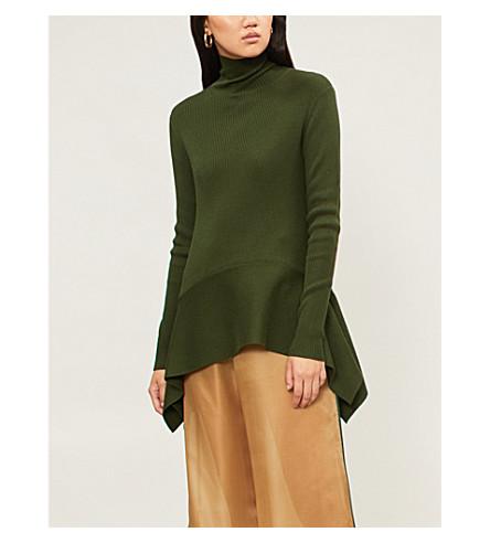 ADEAM Turtleneck silk-blend jumper (Jade+green