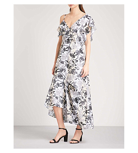 ADEAM Floral asymmetric woven dress (Floral+print