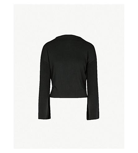 ADEAM喇叭套针织毛衣 (黑色