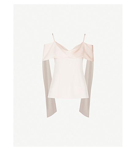 ADEAM Scarf-panel woven camisole (Rose+quartz