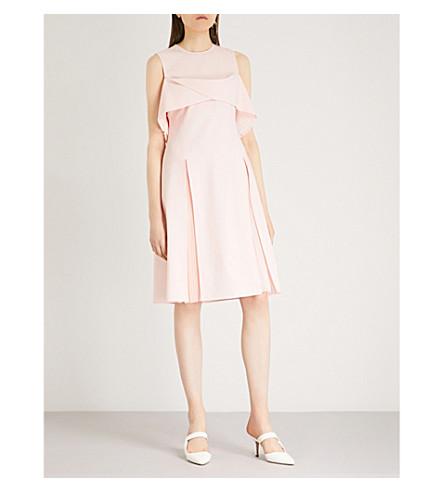 ADEAM Twist pleated wool-blend dress (Rose+quartz