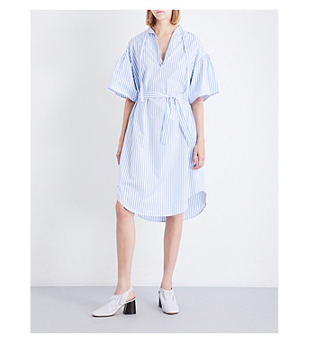 TOME Striped cotton-poplin tunic dress (Blue/white+stripe