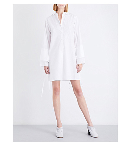 TOME Double-cuff cotton-poplin shirt dress (White