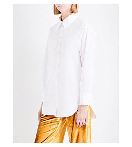 SHARON WAUCHOB Slit-back cotton shirt (White