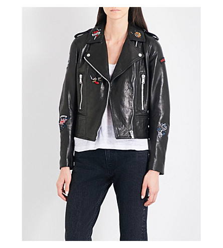 BELSTAFF Marving leather jacket (Black