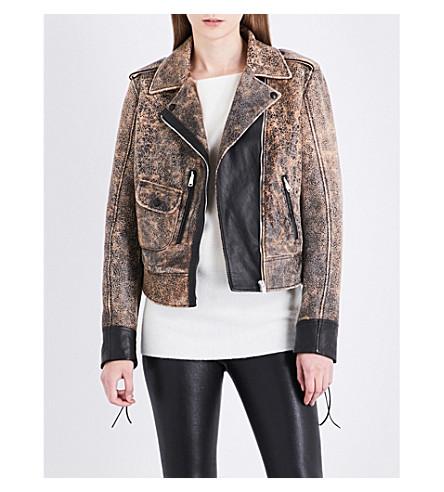 BELSTAFF Elmley Vintage leather biker jacket (Dark+brown