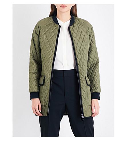 BELSTAFF Ribbed-trim quilted jacket (Bay+leaf