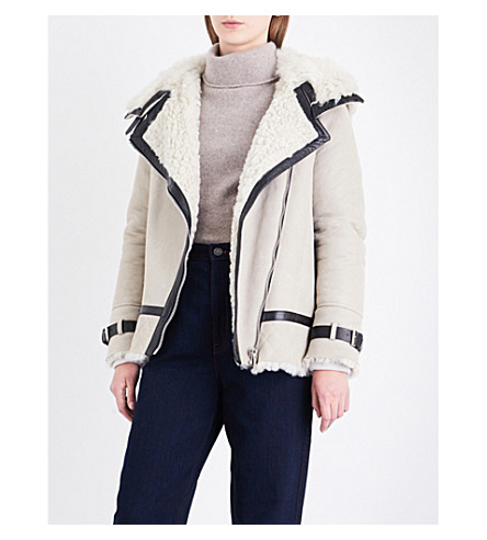 BELSTAFF Marsh shearling jacket (Sand/natural