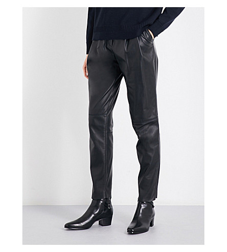 BELSTAFF Emely leather trousers (Black