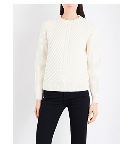 BELSTAFF Shandi cable-knit jumper (Off+white