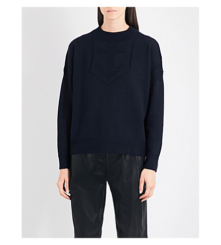 BELSTAFF Sabrine wool jumper (Dark+navy