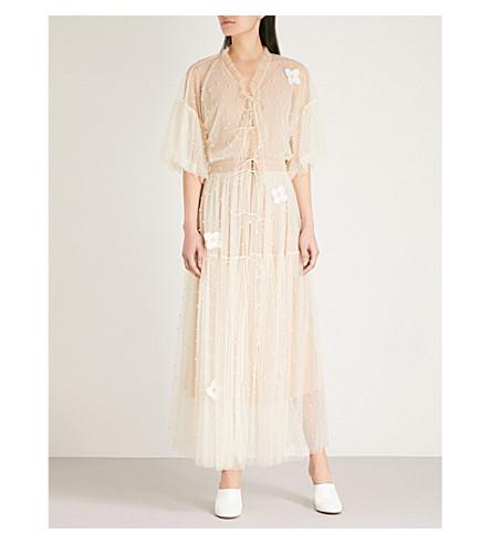 ALENA AKHMADULLINA Embellished and embroidered tulle dress (Ivory