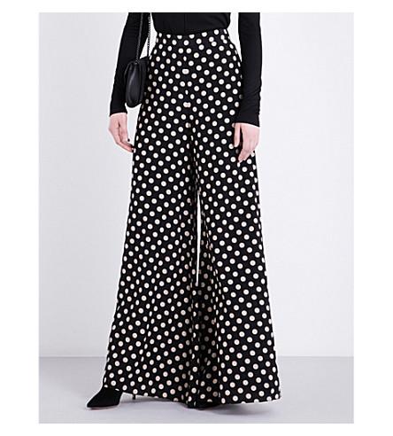 ALEXIS Auden silk trousers (Beige+dot