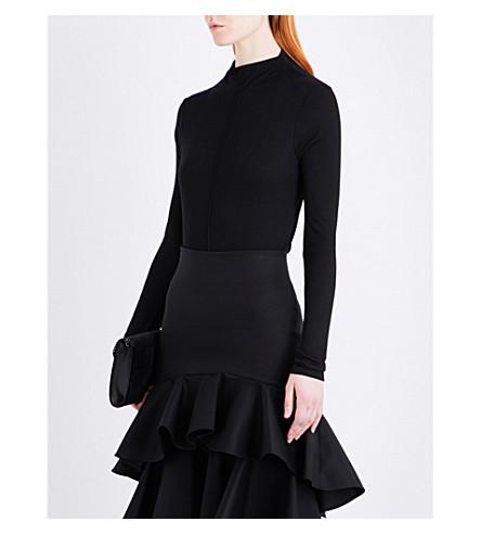 ALEXIS Lorrie cotton-blend jumper (Black