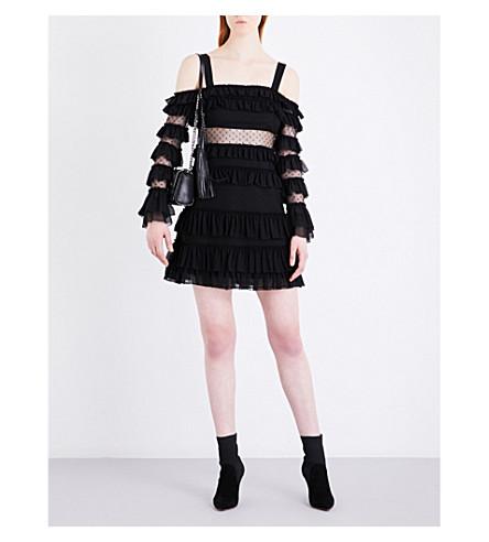 ALEXIS Brandi mesh dress (Black