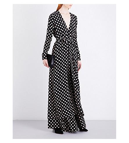 ALEXIS Vilda silk dress (Beige+dot