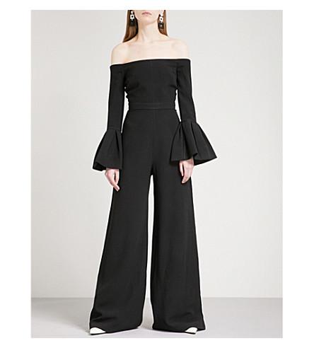 ALEXIS Astoria flared crepe jumpsuit (Black