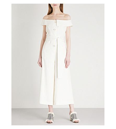 ALEXIS Evy off-the-shoulder linen jumpsuit (Ivory